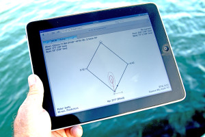 Ockam Instruments EyeApp Sailboat Racing Software running on an iPad